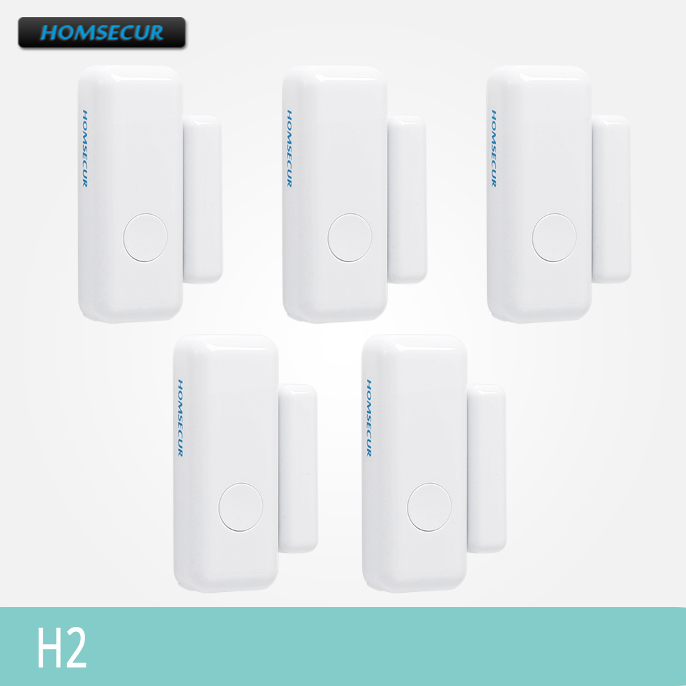 HOMSECUR 433MHz Wireless Door/Window Sensors H2 5Pcs For Home Security Alarm System