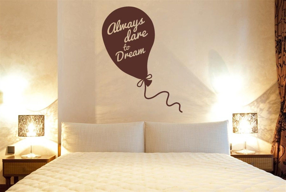Always <font><b>Dare</b></font> <font><b>To</b></font> <font><b>Dream</b></font> Vinyl Quote Wall Decal Sticker inspirational Wall Art Home Decor