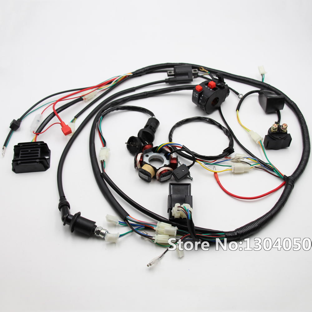 full electric gy6 125/150cc loom magneto stator solenoid magneto coil  regulator cdi atv quad