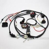 FULL ELECTRIC GY6 125/150CC LOOM MAGNETO STATOR Solenoid Magneto Coil Regulator CDI ATV QUAD WIRING HARNESS 6 coil