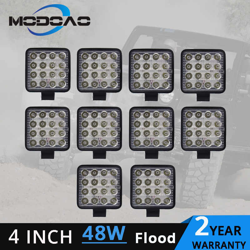 1~10pcs 48W led work light lamp car 4x4 ATV LED working lights  12V 4.17 inch Truck Tractor LED Work Light Flood lights