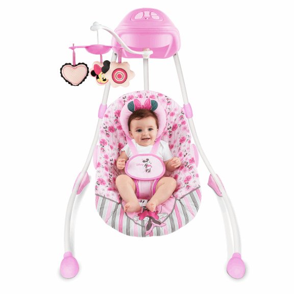 Attrayant Pink Princess Baby Rocking Chair Can Swing Electric Soothe Chair Baby Crib  Cradle Swing Rocking Chair