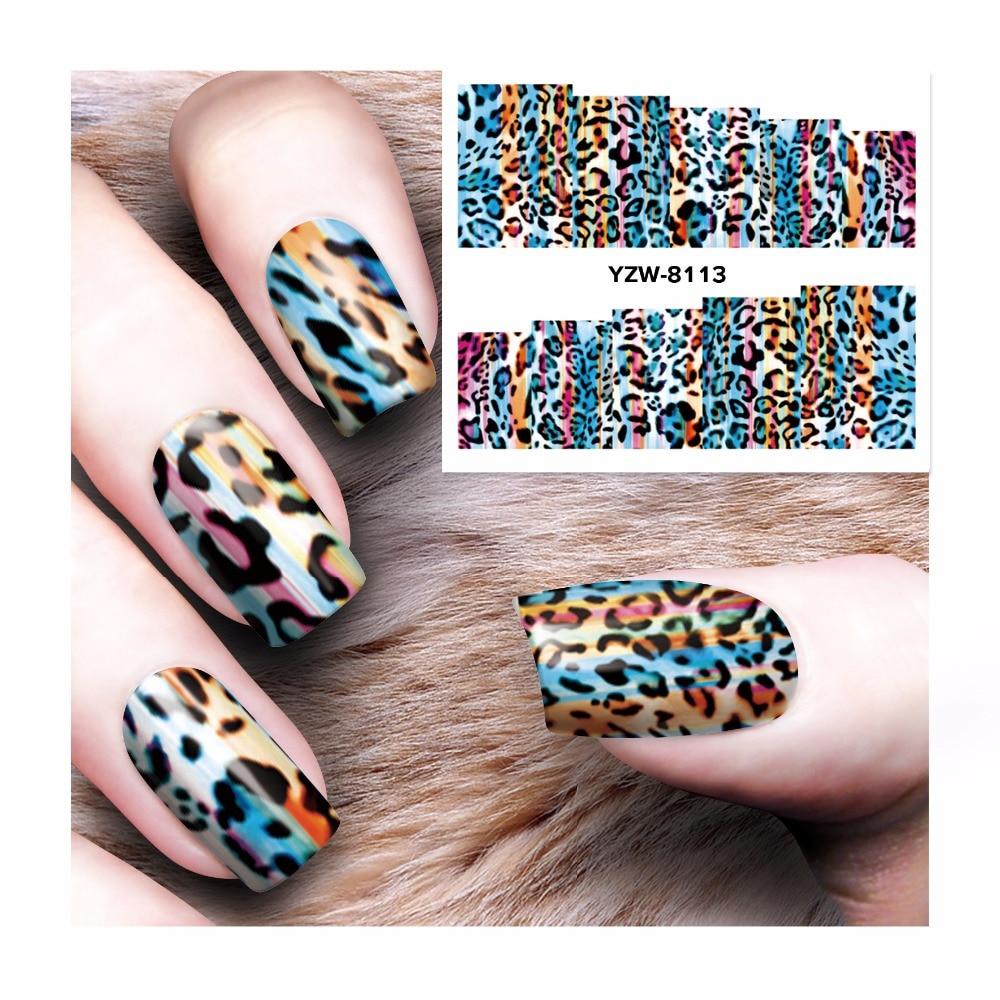 Diy Snow Leopard Nail Art: LCJ DIY Nail Water Decals Leopard Designs Transfer