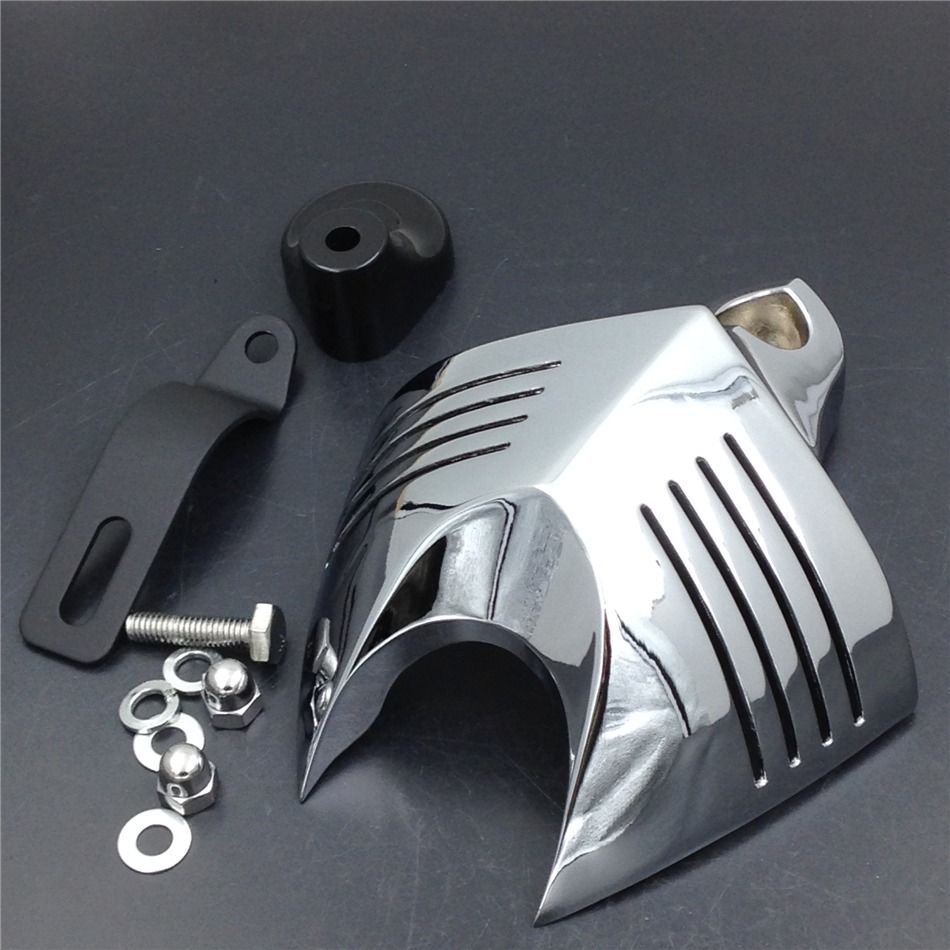 High Quality Chrome Motorcycle Bike V-shield Horn Cover for  For Harley Dyna Softail Sportster Electra Road King Tour Glide chrome motorcycle v shield horn cover set case for harley big twins evo 1992 2012 twin cam 1988 gg