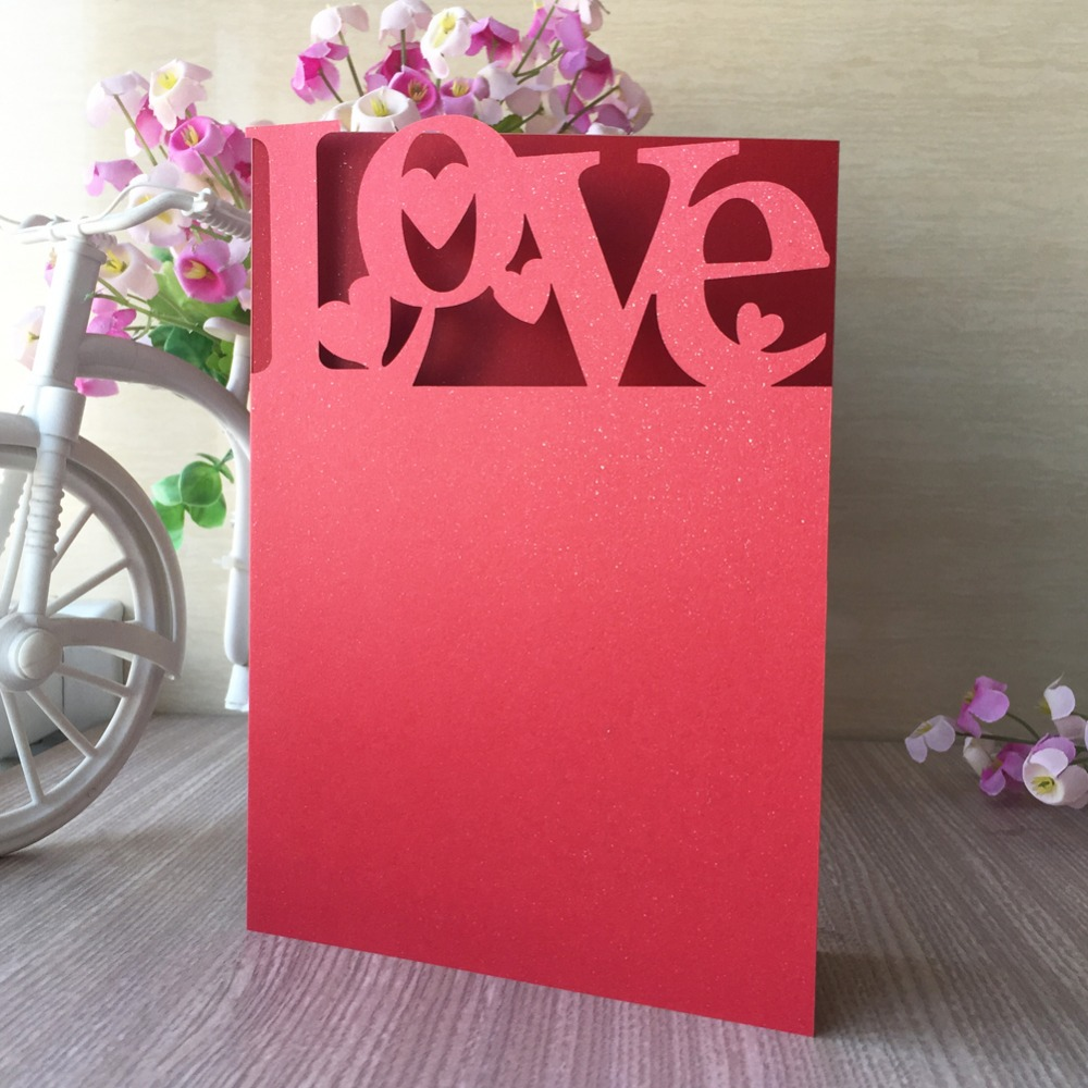 Wedding Lover laser Cut Wedding Invitations Post Card For Happy ...