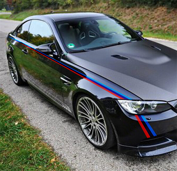Car styling both side waist lines decals stickers car body decoration vinyl stickers for bmw 3