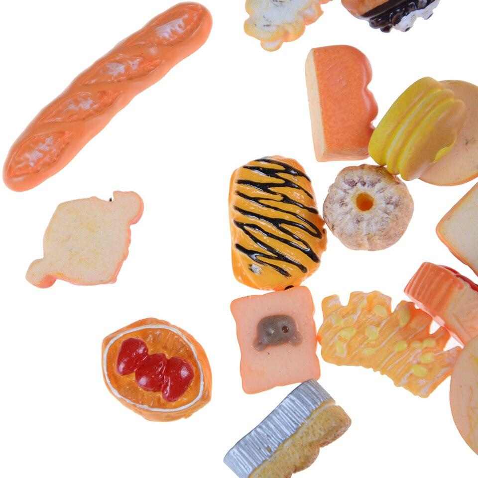10pcs 1:12 Dollhouse Food Hamburg Diy Home Miniature Decoration Phone Cr B EW