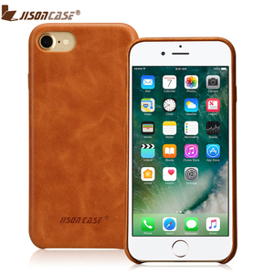 Jisoncase for iPhone 7 Case Cover Genuine Leather Luxury Phone Cases for iPhone 8 4.7 inch Slim Back Cover for iPhone 7 8 Fundas