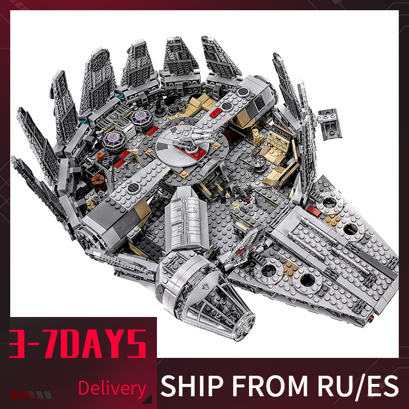 Star Wars 1381pcs Millennium Detailed Interior Figures Movie The Force Awakens Han Solo Building Blocks Starwars