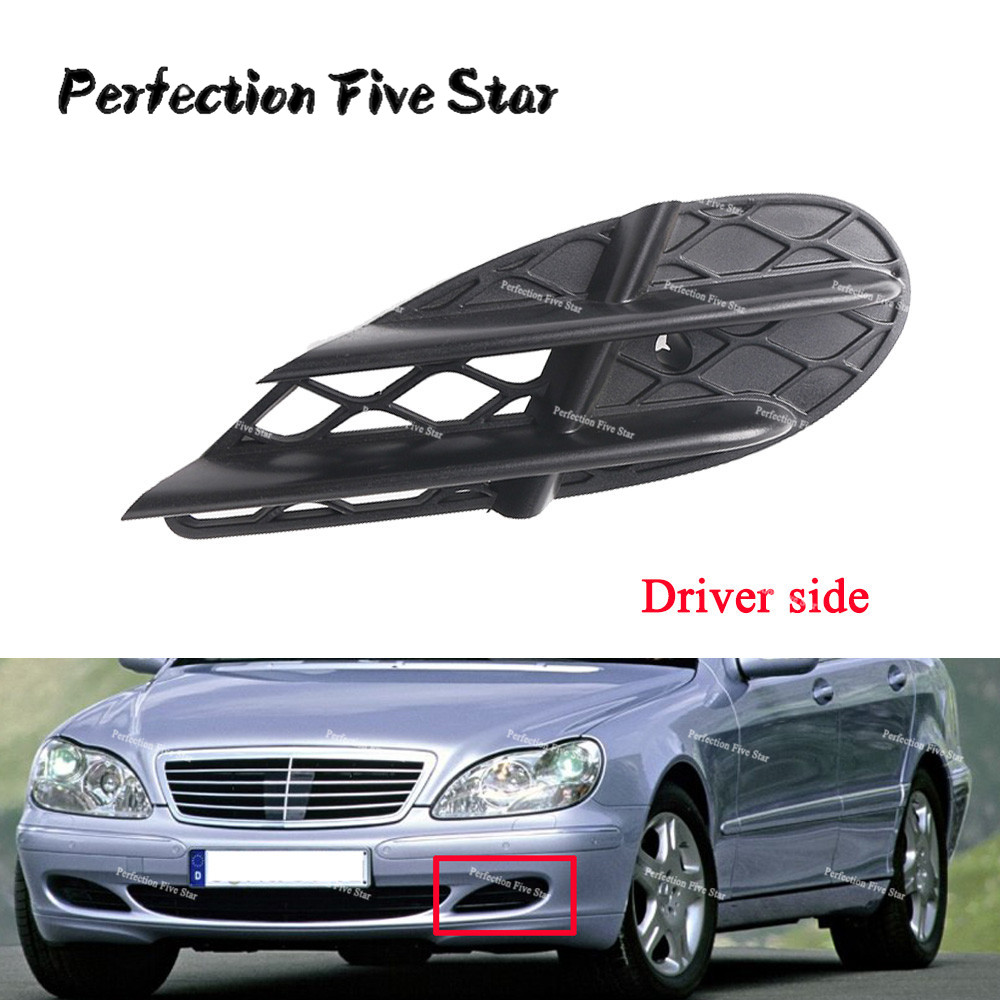 NEW GENUINE Mercedes W220 S430 S500 Front Left Driver Side Bumper Cover Grille