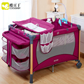 3 colores juego de cama para niños cuna multifuncional cama de bebé plegable portable de la manera estándar de LA UE