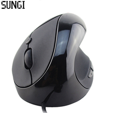 Sungi Горячей Продажи Оптическая Мышь Эргономичный Дизайн Высокое Качество 6 Кнопки Вертикальная Мышь Наручные Исцеление Для Компьютера PC ноутбук