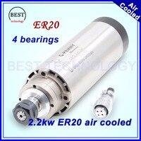 CNC Milling Spindle Motor 2 2 Kw ER20 220v Air Cooling Spindle Motor 2 2kw Air