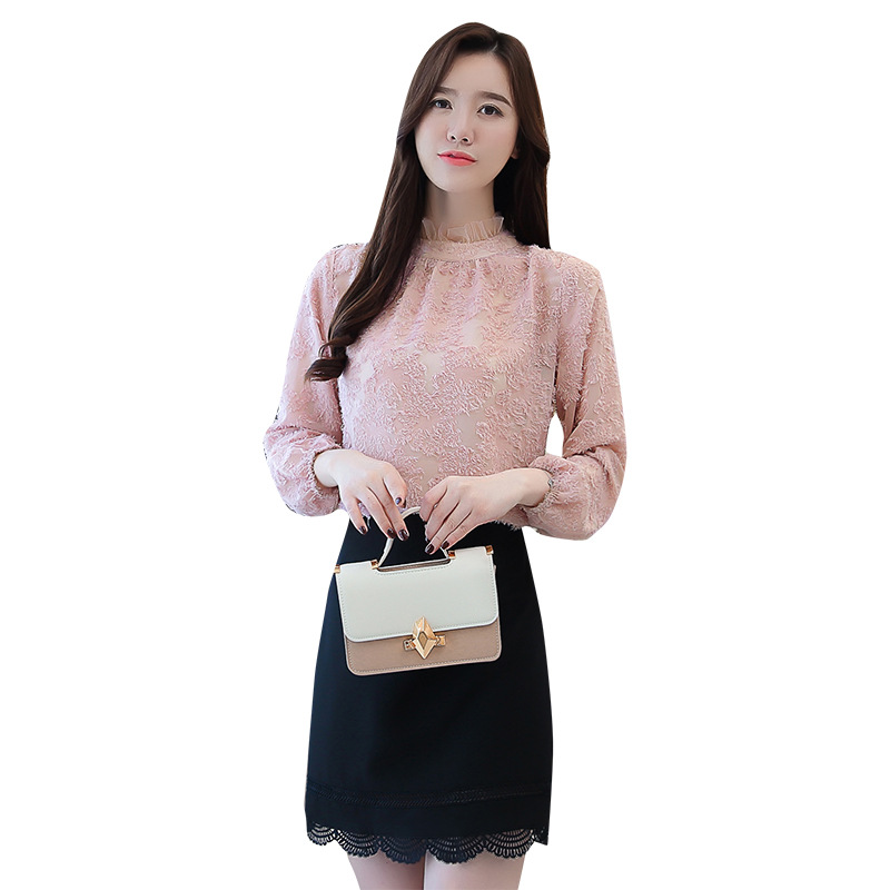 Hong Kong style chiffon shirt long sleeved women early autumn dress 2018 new style OL style ladylike in Blouses amp Shirts from Women 39 s Clothing