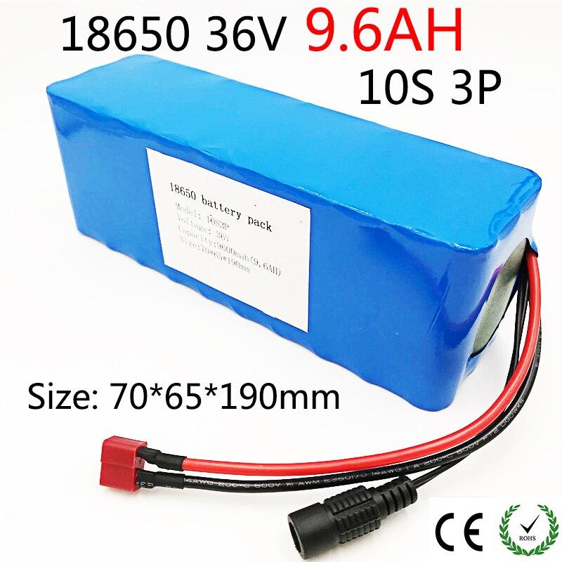 Bateria de Lítio Mah com Proteção 10s3p 36 v 9.6ah 18650 Bateria Recarregável Mudando 36 Bicicletas Carro Elétrico 18650 v 9600 Pcb