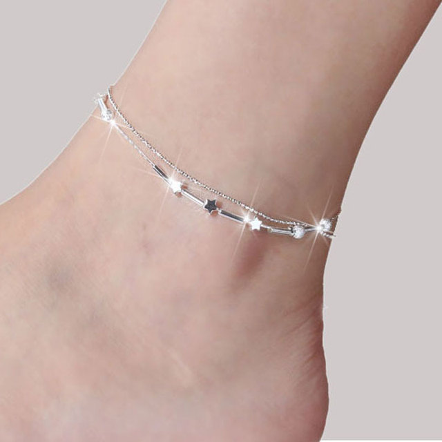 AOJUN Silver Ankle Bracelet