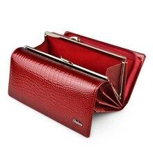 HH prawdziwej skóry kobiet portfel Alligator długo Hasp Zipper Wallet panie Clutch Bag torebka 2019 nowych kobiet luksusowe monety portmonetki