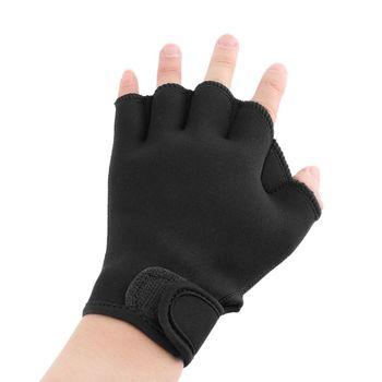 1 para czarny pływanie rękawice wody akcesoria sportowe pływanie Surfing nurkowanie płetwy neoprenu wiosła rękawice tanie i dobre opinie Other Swimming Gloves black 3 sizes as the picture show 1pair