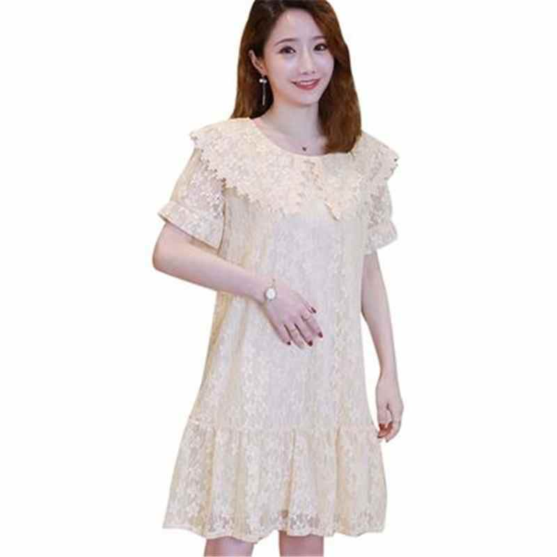 2019 New Summer Fashion Pregnancy Hollow Lace Dress Maternity Dresses For Photo Shoot Pregnant Women Clothes Dress Vestidos S57
