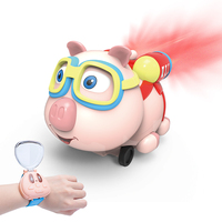 Pig Small Eight Pet Watch Car Toy with Sound and Light Infrared Follow Spray Pet Pig Wltoys Educaitonal Toys for Children