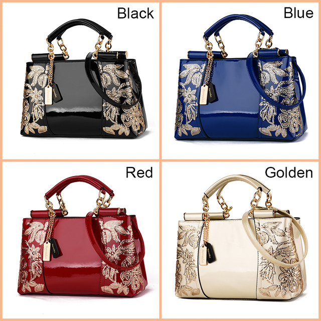 Nevenka Embroidery Women Bag Leather Purses and Handbags Luxury Shoulder Bags Female Bags for Women 2019