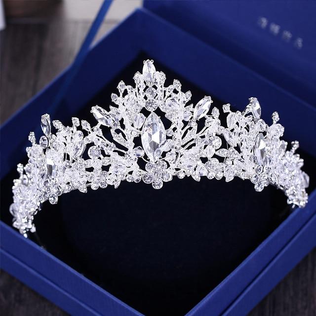 Роскошные Стразы в стиле барокко, бусины, сердце, свадебная тиара, корона, серебро, кристалл, диадема, вуаль, диадемы, свадебные аксессуары дл...