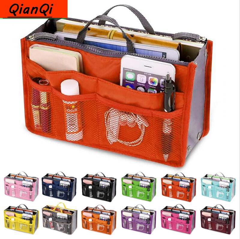 QianQi Multifunction Travel Cosmetic Bag Neceser Women Makeup Bags Toiletries Organizer Waterproof Female Storage Make Up Cases