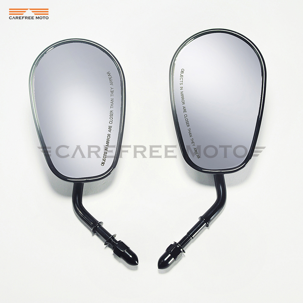 Black motorcycle Rearview Mirror Moto Side Mirrors case for Harley Davidson FLHTC Classic XR1200 XL883 SPORTSTER SOFTAIL
