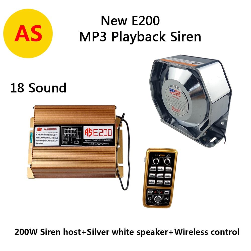 Loud 300w Siren 12v Car Police Metal Flat Speaker Ultra Slim 2 Transistor Electronic Dc12v New Ase200 200w Alarm Horn Wireless Remote Control