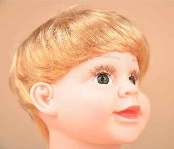 เด็ก Mannequin ตุ๊กตาเด็กหัววิกผม Shop หน้าต่างตุ๊กตาสำหรับหมวกแว่นตา