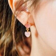 Heart Shaped Earrings Pink Heart Sweet Pendant Earrings For Girlfriend Gifts 1 Pair