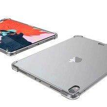 Şeffaf şeffaf silikon TPU kılıf için iPad Pro 11 inç 2020 yumuşak arka kapak ince Tablet kabuk Fundas iPad Pro için 11 inç 2018