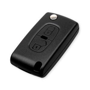 Image 2 - Dandkey For Peugeot 4007 ET 4008 For Citroen C Crosser C4 Aircross Key 2 Buttons Flip Remote Key Shell Fob Case MIT 11R blade