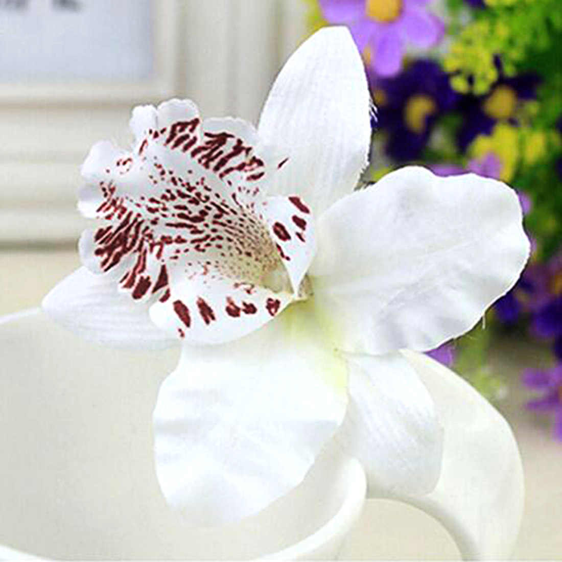 חדש 7 צבעים בוהמיה סגנון סחלב אדמונית פרחי שיער קליפים חוף סיכות נשים שיער אבזרים