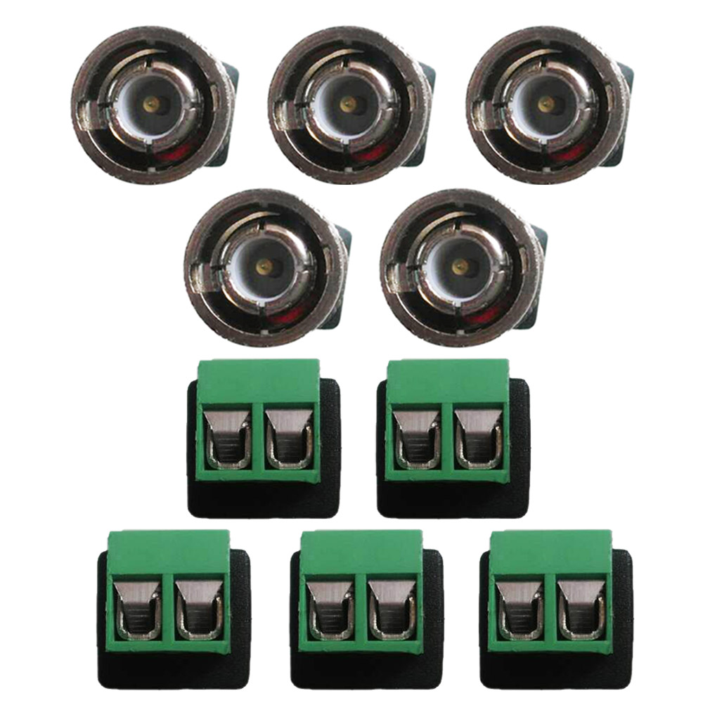 10PCS New CCTV BNC Male Connector Adapter to Terminal Screws for CCTV Camera Security System Surveillance Accessories CNP Ship