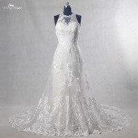 RSW1088 Vestido De Noiva Halter Neckline Mermaid Inside A Line Wedding Dress Lace