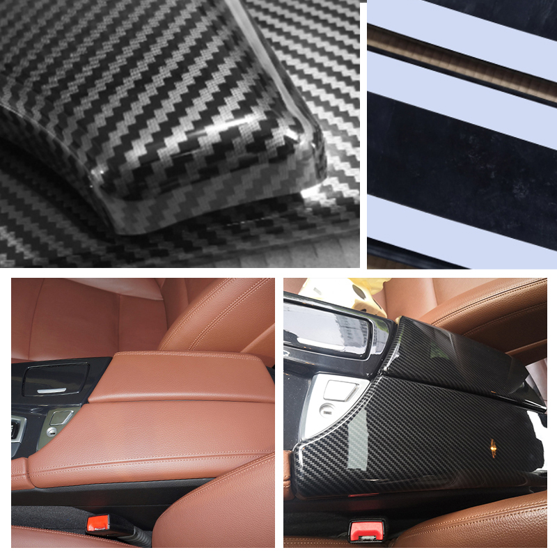 Image 4 - For BMW 5 Series F10 F18 2011 2012 2013 2014 2015 2016 2017 Carbon Fiber Texture Car Center Control Armrest Box Pad Cover-in Armrests from Automobiles & Motorcycles