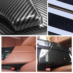 Image 4 - Voor Bmw 5 Serie F10 F18 2011 2012 2013 2014 2015 2016 2017 Carbon Fiber Textuur Car Center Controle Armsteun doos Pad Cover