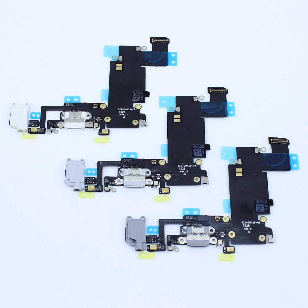 Micro Dock Connector With Headphone Jack Flex Cable For iPhone 6s Plus USB Charging Port Ribbon Cable . 5.5 inches