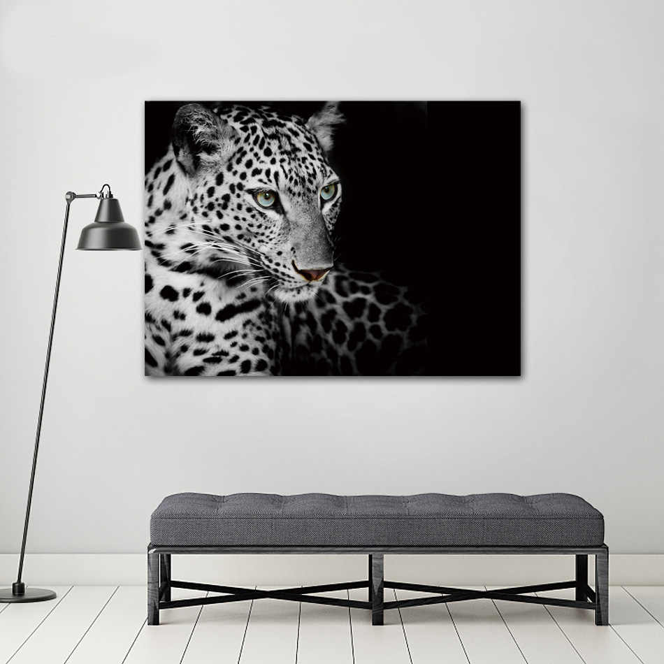COLORFULBOY Leopard Nordic Poster Canvas Painting Wall Art Black White Posters And Prints Wall Pictures For Living Room Decor