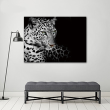 COLORFULBOY Modern Fox Elephant Leopard Canvas Painting Black White Wall Art Print Poster Pictures For Living Room Decor