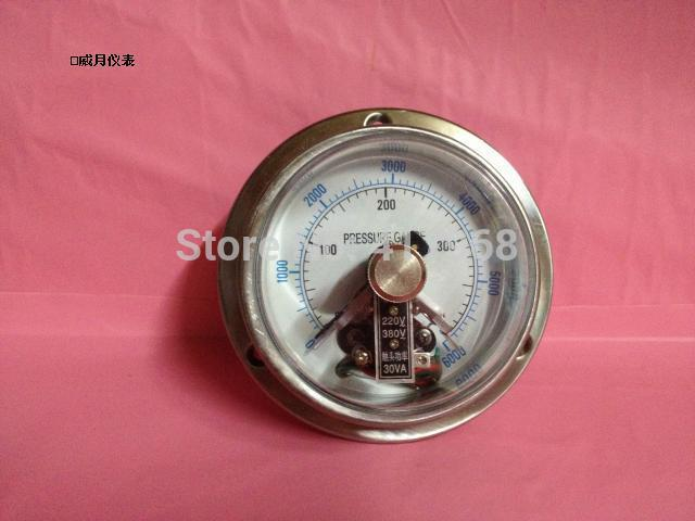 ACUTEK original export Axial to edge Electrical contacts Pressure gauge YXC100BF-ZT 400bar NPT1/2