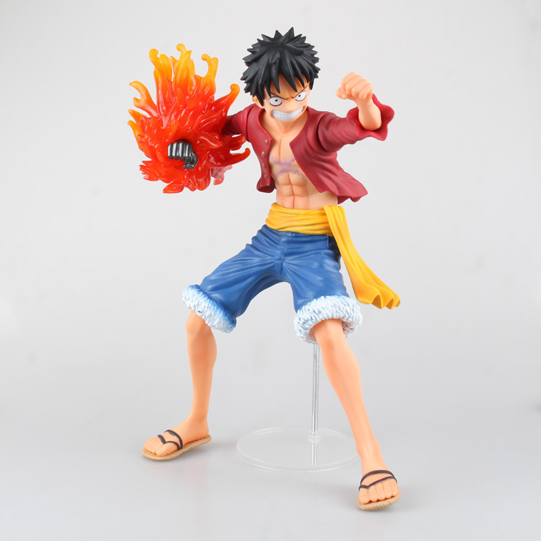 1 Pcs 32 CM One Piece Monkey D Luffy Battle Ver Boxed PVC Action Figure Movable Collection Model Toy Children Gift High Quality free shipping cool 8 7 one piece marine fleet admiral akainu sakazuki battle ver boxed pvc action figure collection model toy
