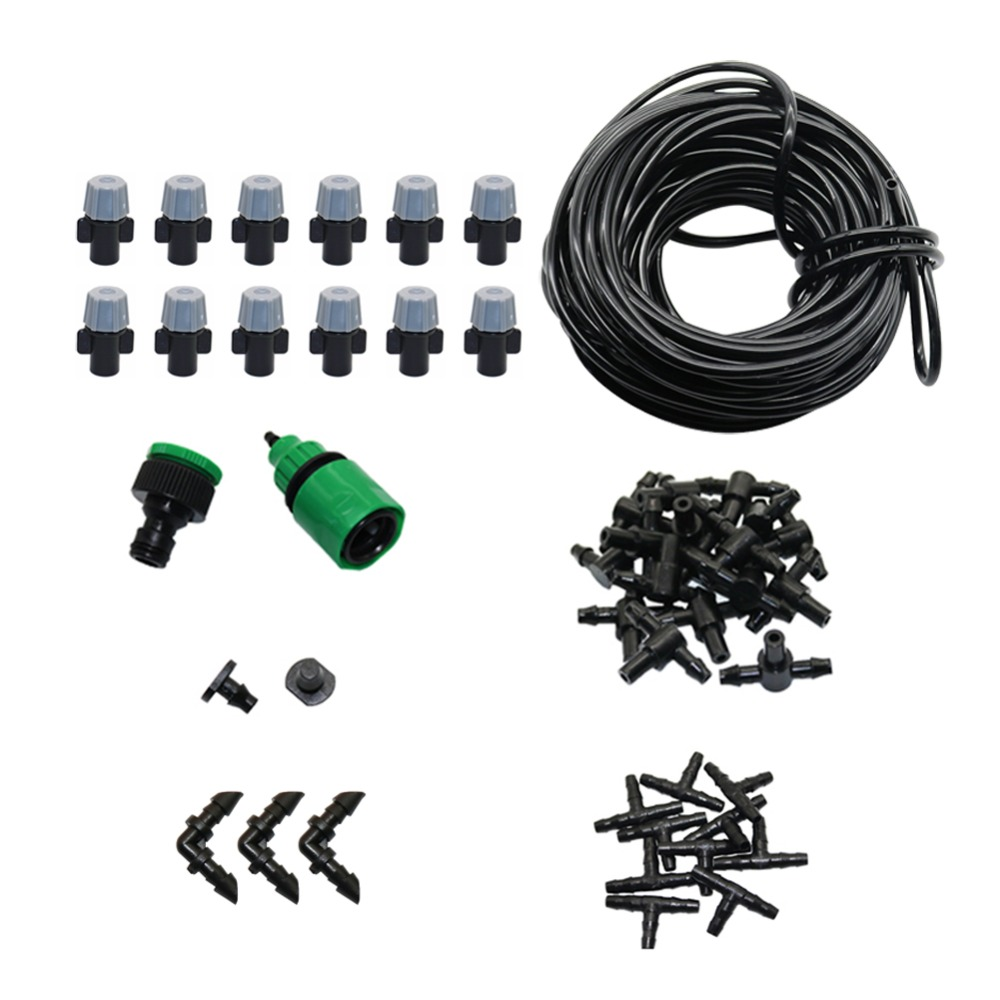 5m/10m/20m Automatic Misting Watering Kit Garden Pouring Drip Irrigation System Agriculture Greenhouse Irrigation Kit