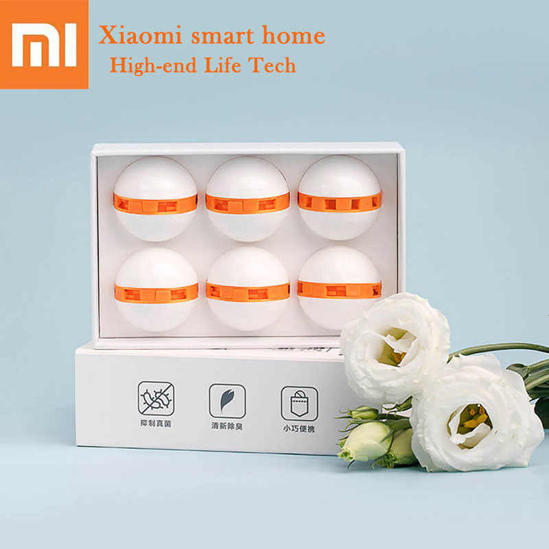 Xiaomi Mi Youpin 6pcs Deodorant Dry Deodorizer Air Purifying Switch Ball Mini Portable Clean Fresh Shoes For Smart Home Shoes