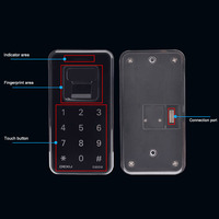 Fingerprint Lock Digital Cabinet Drawer Wardrobe Hutch Locker Electronic Keyless Lock IJS998