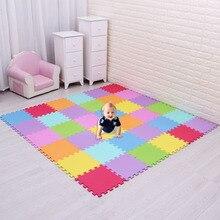 Пены EVA игра-головоломка мат 18 шт./лот Централизации упражнение Плитки защиты коврик для малыша, каждый 30 см X 30 см мультфильм ребенка играть мат