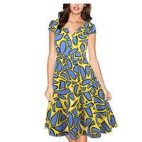 Dream Vine Audrey Hepburn 50s Vestidos Womens Dress Formal V Neck Casual Office Wear Working Bodycon