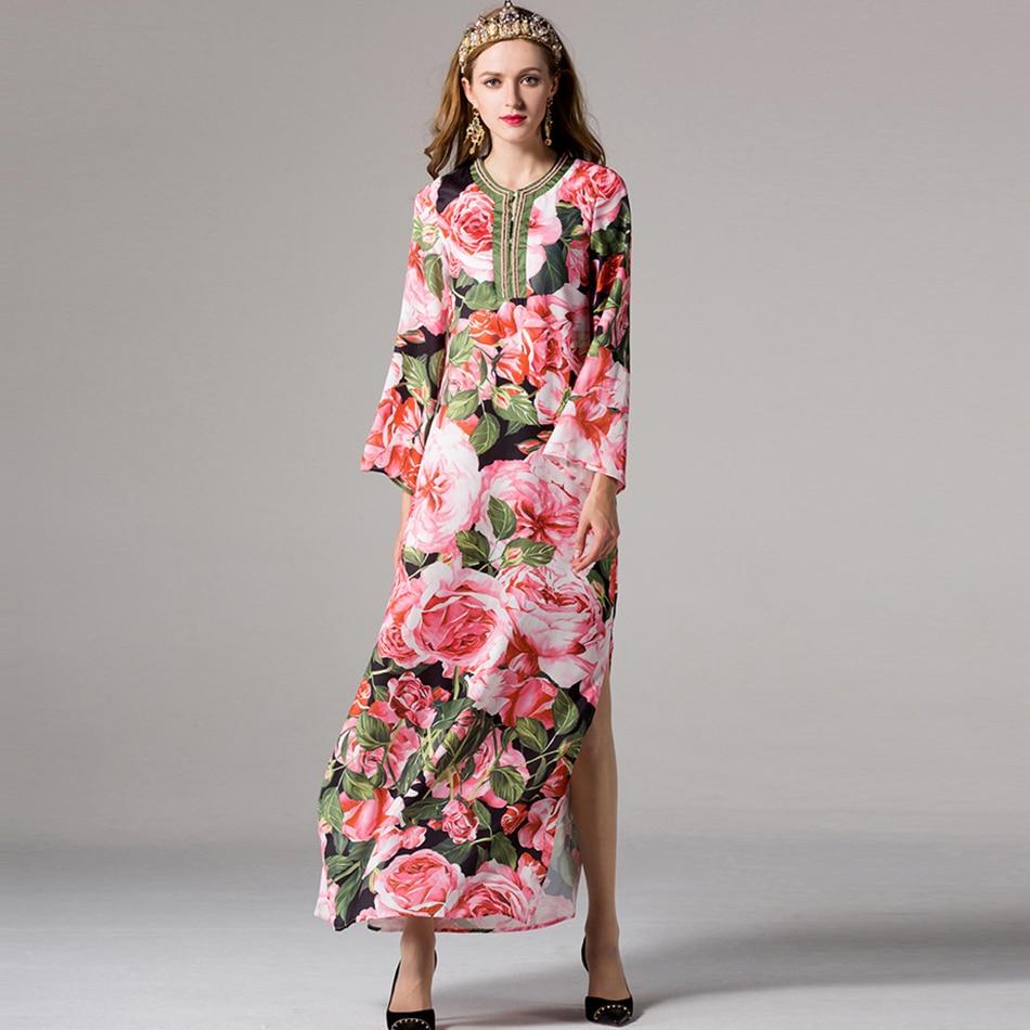 Online Get Cheap Pink Long Sleeve Maxi Dress -Aliexpress.com ...