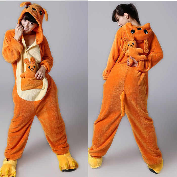 Animal Onesies Pajamas For Adult Cute Kangaroo Onesies Women s One Piece  Onesies Pajamas Hooded Onesies b91c093a6